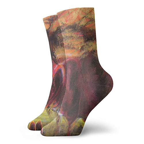huatongxin Abstract Cormorants Pig Adult Calcetines Cotton Gym Short Calcetines For Yoga Hiking Cycling Running Soccer Sports