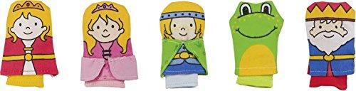 Goki - 51653 - Assortiment de Marionnettes à Doigt - Roi des Grenouilles - 5 Eléments