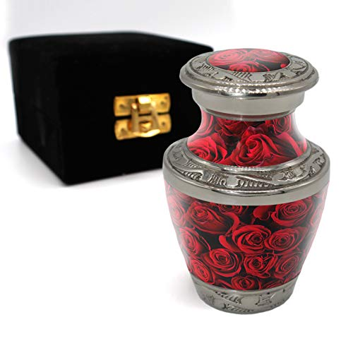 Crimson Rose Display Cremation Urn