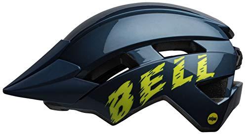 Bell Unisex Jeugd Sidetrack II Mips fietshelm Kids, blauw/hi-viz, eenheidsmaat