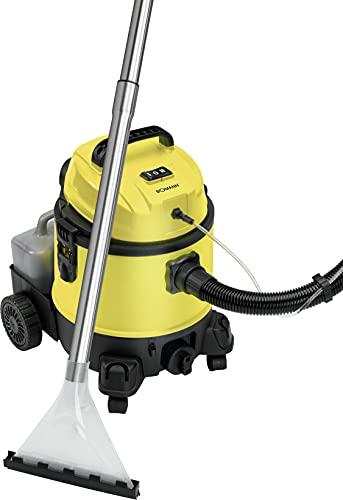 Bomann BSS 6000 CB 4in1 Mehrzweck-Nass-/Trockensauger mit Shampoo-Funktion inkl. separatem, abnehmbaren Tank für Reinigungsmittel (4 Liter), umfangreiches Zubehör, Schwarz/Gelb