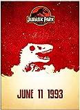 MKAN Jurassic Park Vintage Movie Art Poster Pintura Imagen Impresión Sala De Estar Dormitorio...