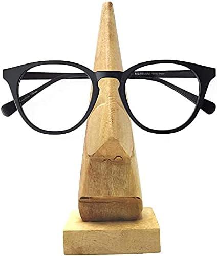 Generic_ Reservation Nose Shaped Indefinitely Wooden Spectacle Eyewear Lig Holder - Stand
