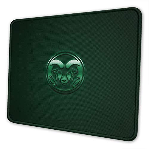 Colorado State University Mouse Pad Stitched Edge Non-Slip Rubber Base Rectangle Gaming Mousepad for Laptop Computer & Pc
