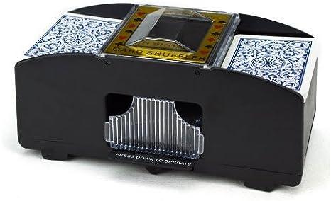 Tubayia 2-Deck Cartas Shuffler Barajadoras Juegos de Cartas M/áquina autom/ática de P/óker Cartas de Madera