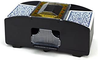 Brybelly Two Deck Automatic Card Shuffler - Battery-Operated Electric Shuffler - Great for Home & Tournament Use for Classic Poker & Trading Card Games