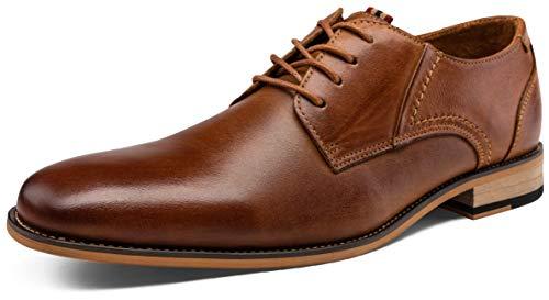 JOUSEN Men's Oxford Yellow Brown Retro Leather Formal Dress Shoes (9.5,Retro Leather Yellow Brown/12)