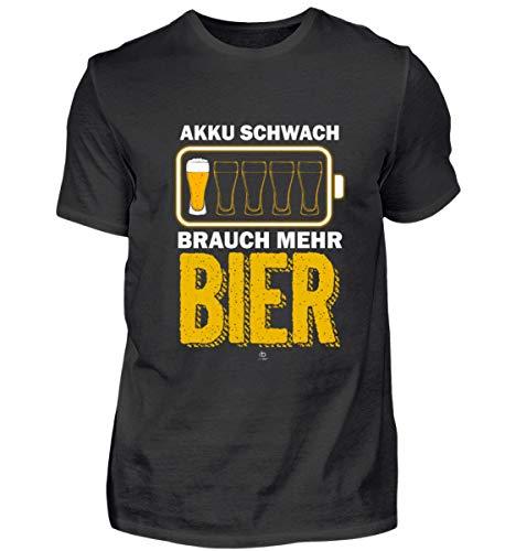 Lustig Bier Spruch Beer brauen Brauerei Alkohol Bierkrug Bierfass Geschenk Geschenkidee - Herren Shirt -XL-Schwarz