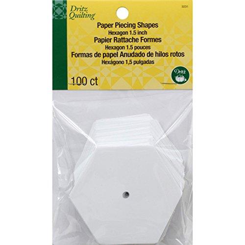 Dritz 3231 Papierformen Sechseck 1-1/2-Inch weiß