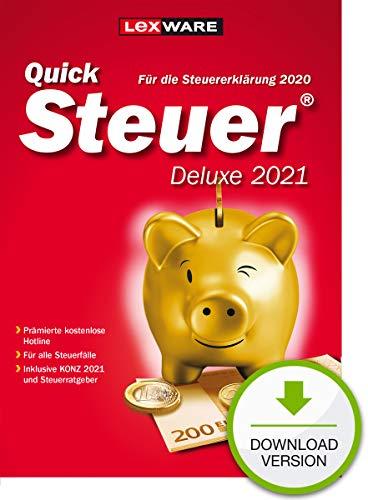 Lexware QuickSteuer Deluxe 2021 Download für das Steuerjahr 2020 | Deluxe | PC | PC Aktivierungscode per Email