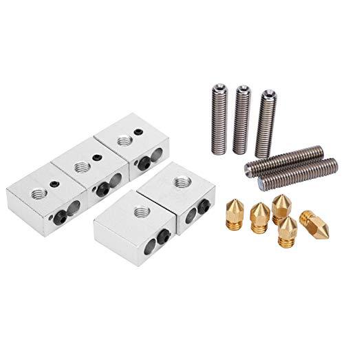 Aluminium-Heizblock, leicht zu tragen Feste dauerhafte Alterungsbeständigkeit Stabile 3D-Druckerdüse, für 3D-Druckerteile 3D-Drucker
