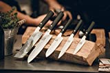 zayiko Kuro Damastmesser Nakirimesser, Klinge 18,00 cm Länge - sehr hochwertiges sehr scharfes Profi Nakirimesser mit Damastklinge und Pakkaholzgriff, Küchenmesser, Kochmesser - 6
