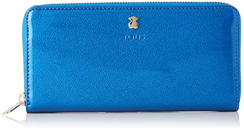 TOUS 995960400, Monedero para Mujer, Azul, 19.5x11x2 cm (W x H x L)