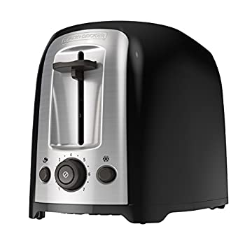 BLACK+DECKER 2-Slice Extra Wide Slot Toaster Classic Oval Black with Stainless Steel Accents TR1278B