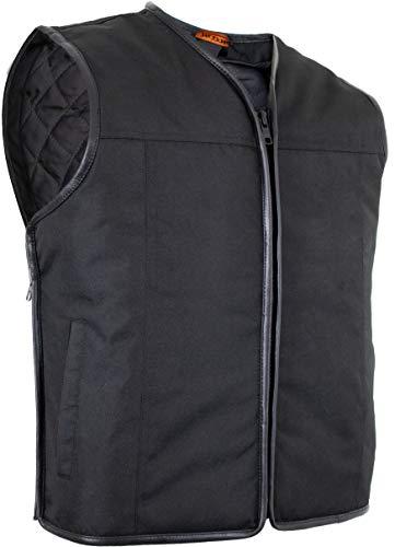 MDM Textil Bikerweste (Winddicht und Wasserabweisend) (XL)