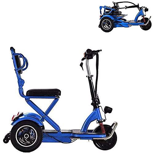 Scooter de Movilidad eléctrico para Personas Mayores y Adultos, Scooter de Movilidad Plegable de 3 Ruedas, Silla de Ruedas eléctrica para discapacitados para Viajes de Ocio al Aire Libre