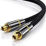 Cable Toslink de audio óptico digital de 5 pies (1,5 m), JYFT, puerto S/PDIF, conectores chapados en oro de 24 K, para cine en casa, barra de sonido, TV, PS4, Xbox, Playstation