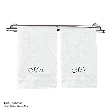 BC BARE COTTON Luxury Hotel & Spa Mrs and Mr Hand Towels Wedding Engagement Anniversary Gift