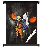 アニメナルト疾風伝ポスタープリントアニメ巻物ポスターバナー収集家の壁の寝室の装飾 50x75cm