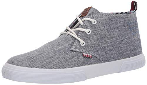 Ben Sherman Men's Bradford Chukka Sneaker, Navy Chambray, 10.5 M US