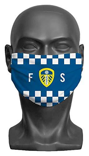 Personalised Leeds United FC Initials Adult Face Mask - Medium