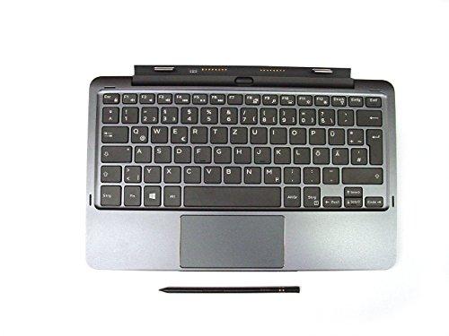 Original Dell Latitude 1151755179Tablet Tastatur mit Touchpad Deutsch, QWERTZ Layout für Deutsch Sprache, mit Dell Mini Active Stylus Pen, Built in zusätzlicher Akku, Dell P/N 11jnc