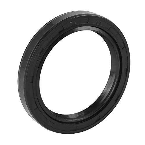 X AUTOHAUX 45mm X 60mm X 8mm Black Rubber Cover Double Lip TC Oil Shaft Seal for Car Auto