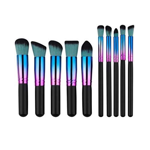 Brosse de maquillage Set 10pcs maquillage Maquillage pinceaux pinceaux Fondation poudre fard à paupières (noir) Cosmétiques Set Brosses