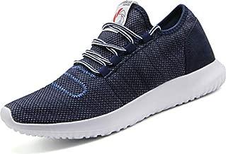 CAMVAVSR Men's Gym Shoes Fashion Slip on Lightweight Casual Workout Outdoor Walk Shoes for Men Blue Size 11