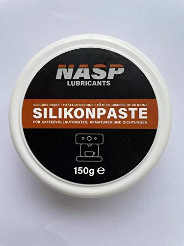NASP Grasa de silicona para cafeteras automáticas con juntas tóricas y juntas para el horno, lubricante, máquinas de café, bote de 150 g, baja viscosidad