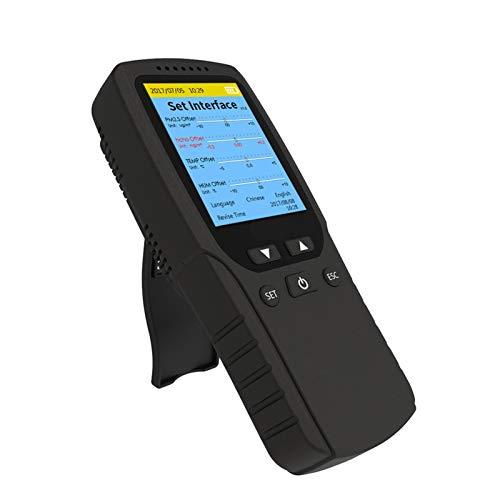 QHY Monitor de calidad del aire Detector de formaldehído, sensor de contaminación del aire interior para HCHO TVOC VOC PM1.0 PM2.5 PM10 partículas polvo ultrafino