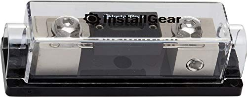 InstallGear 0/2/4 Gauge AWG in-Line ANL Fuse Holder with 300 Amp Fuse