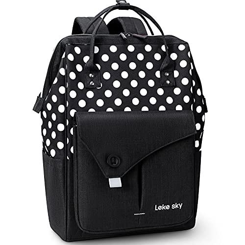 Lekesky Laptop Backpack 15.6 Inch Computer Rucksack for Men Women, Dots