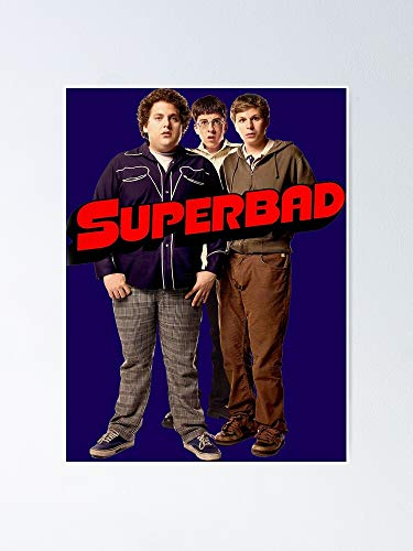 guyfam Superbad Poster 11.7x16.5 Inch Frame Board for Office Decor, Best Gift Dad Mom Grandmother and Your Friends