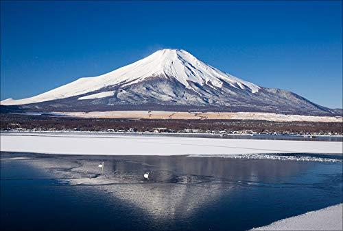 【Amazon.co.jp 限定】冬映えの富士山 ポストカード3枚セット P3-144