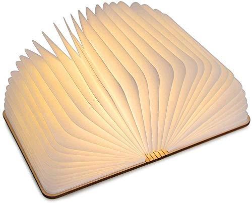 LED-boeklamp Creatieve opvouwbare boekpagina-lamp, Magic Light Book Light Nachtlampje Slaapkamercadeau, Woonkamer, Salontafel, Boekenkast, Warmcolor.