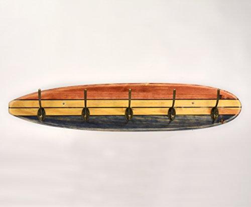 05 Art Deco. Perchero Tabla Longboard Tres Tonos