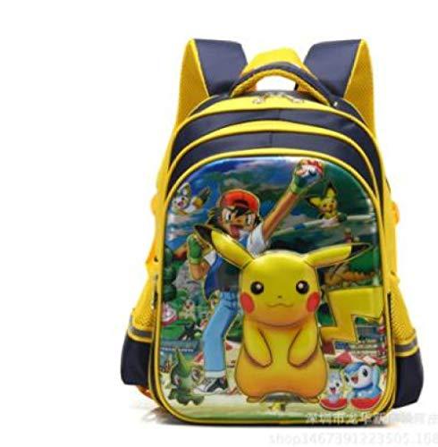 Mochila para Adolescentes 3D Pokemon Pikachu Impresión Mochilas Escolares Mochilas Casuales de Dibujos Animados para niños-como imágenes