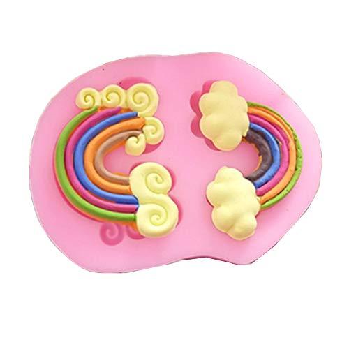 Moldes para Caramelos DIY del arco iris pastel de pasta de azúcar del molde del silicón Goma de silicona del molde pasta de silicona moldes reutilizables antiadherente moldes de la torta Tortas de la
