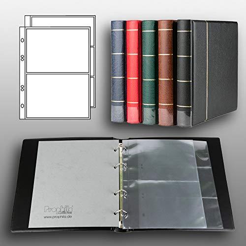 Prophila Kobra Banknoten-Album (schwarz) mit 20 Hüllen für 50 Banknoten
