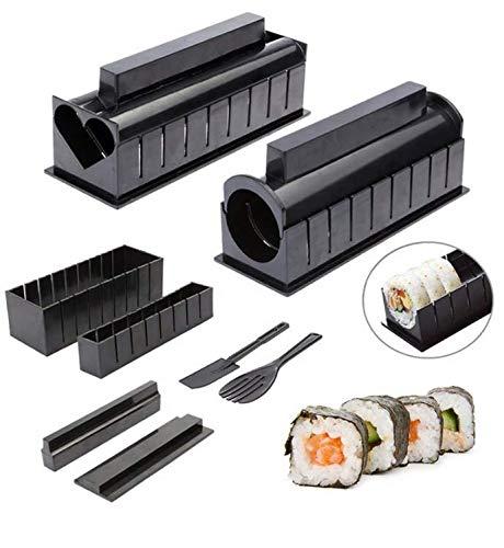 PROVO Sushi Maker Kit 11 Pezzi Completo Sushi Making Kit DIY Sushi Set per Principianti Easy Sushi Maker Facile e Divertente Anche Come Regalo