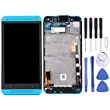 JSANSUI LCD Touch Screen digitizer Screen Replacement Touch Display LCD Digitizer Assembly with Front Facing Camera Proximity Sensor+Full Repair Tools for HTC One M7 / 801e(Black) (Color : Blue)