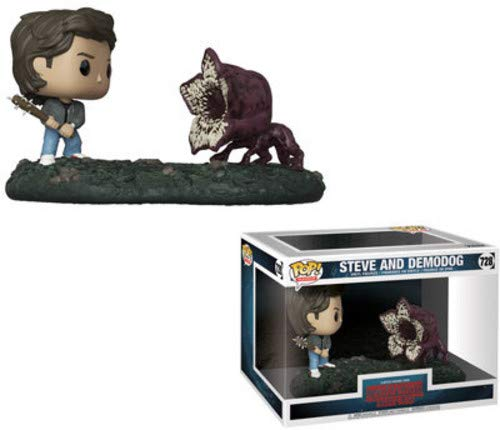 Funko Figurines Pop Vinyl 2-Pack: Movie Moments: Stranger Things: Steve vs Demodog Collectible Figure, 35034, Multcolour