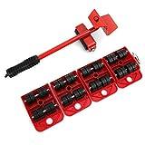 Outils de Déménagement de Meubles Lourds Outil de Déplacement d'Objets Lourds pour Meubles Mobiles de Transport (rouge)