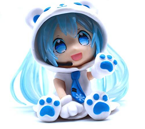 A Vocaloid Chibi Figur von Miku Hatsune im Eisbärenkostüm (Blue)