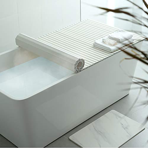 Badkuip isolatiehoes, PVC veiligheidsmateriaal voor de badkamer kan plaatsen mobiele telefoon, bad benodigdheden 120×75×1.2cm