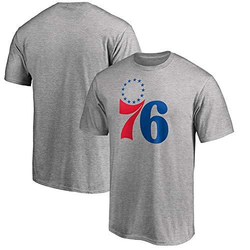 T-Shirt New Manches Mi-Longues Printemps Et D'été en Plein Air Vêtements De Sport NBA Philadelphie Hommes J-L