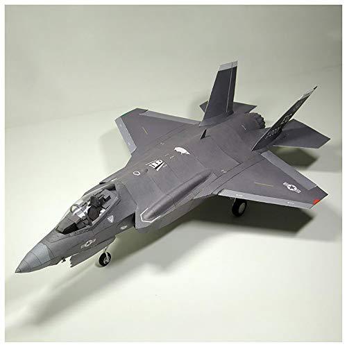 1/33 F-35 Lightning II Fighter Plane Model Kit, DIY Paper Airplane Modelo Puzzle Toys Regalos