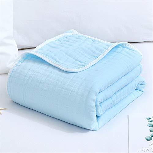 Toalla De Baño para Niños Niños de baño de algodón de algodón Toalla de baño de niños de Seis Capas para niños (Color : Azul, Size : 110×120 cm)