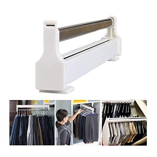 Kleiderstange Ausziehschrank Kleiderschrank Kleiderstange, Einziehbare Kleiderschrankstange, Einstellbare Garderobe Kleidungsrutsche, Garderobe Organizer, Für 30-60cm Kleiderschrank ( Size : 300mm )